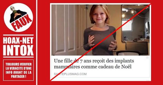 NON, une fille de 7 ans n
