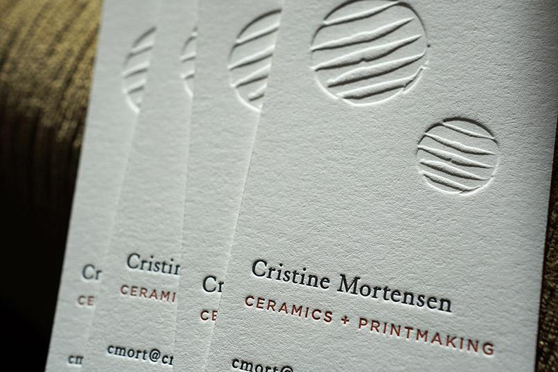Hoban Press \u2013 Custom Letterpress Printing - letterpress business card