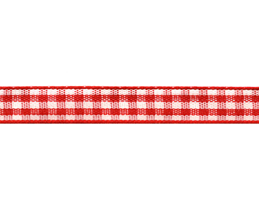 Ribbon 10mm Checkered Red