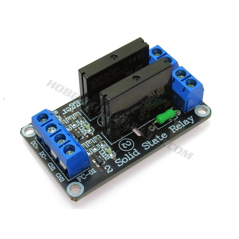 5V 2 Channel 240V AC Solid State Relay - Hobby Components