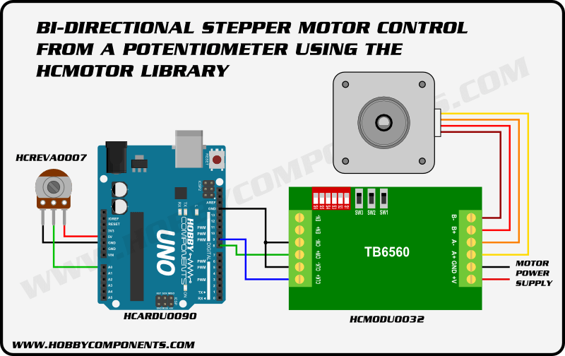 6 wire stepper motor controller