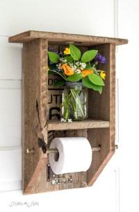 30 Unique Examples of DIY Toilet Paper Holder