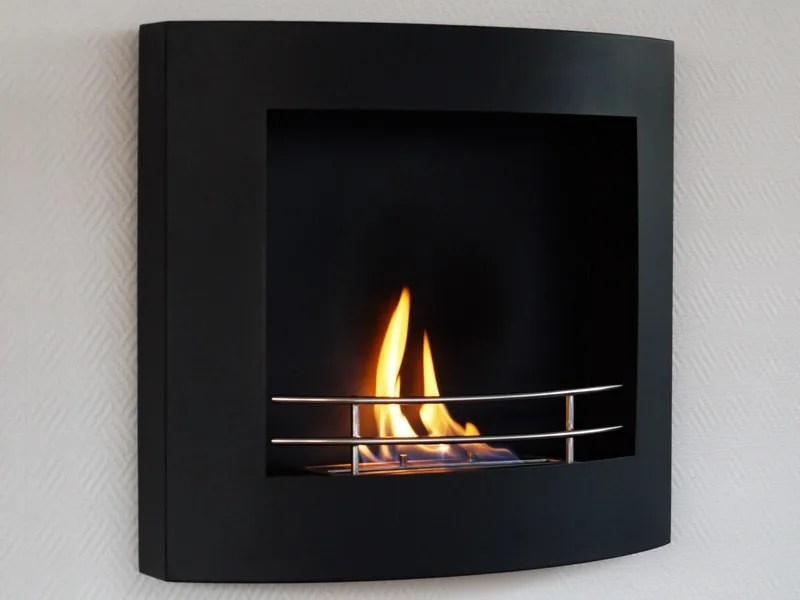 Caminetto Di Design In Bioetanolo Laccato Lucido Color Nero Caminetto In Bietanolo - Caminetto Design Maisonfire Rigoletto Nero