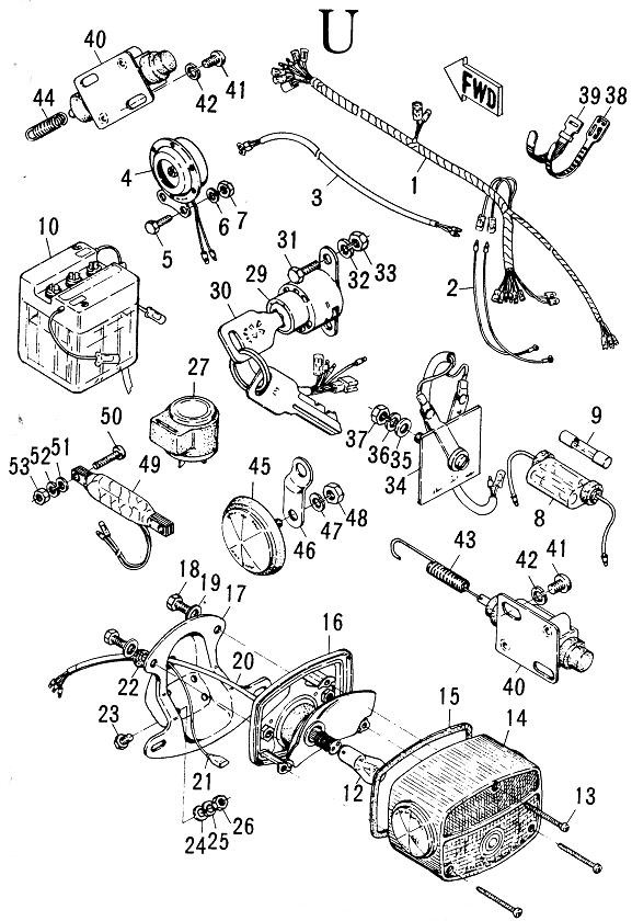 hodaka wiring diagram ace 90
