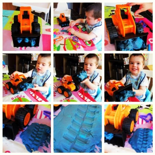 playdoh with diggers