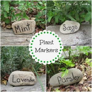 stone plant markers