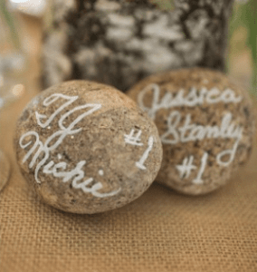 rock place name wedding favour keepsake