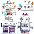 sticker robot craft free printable