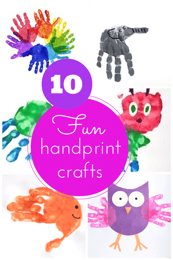 10 amazing handprint craft ideas for kids!