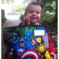 DIY comic book school bag