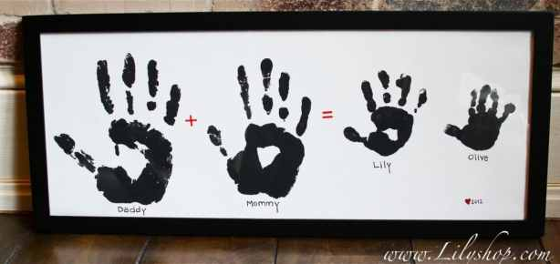 handprint family framed gift