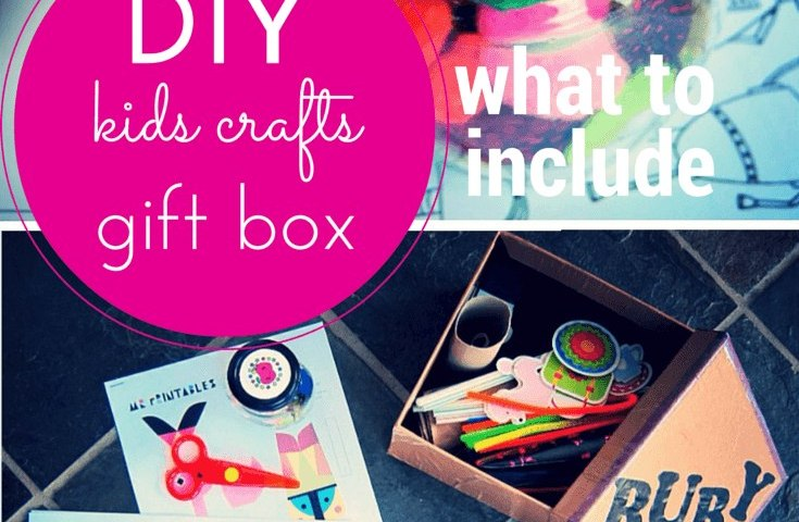 DIY kids crafts gift box