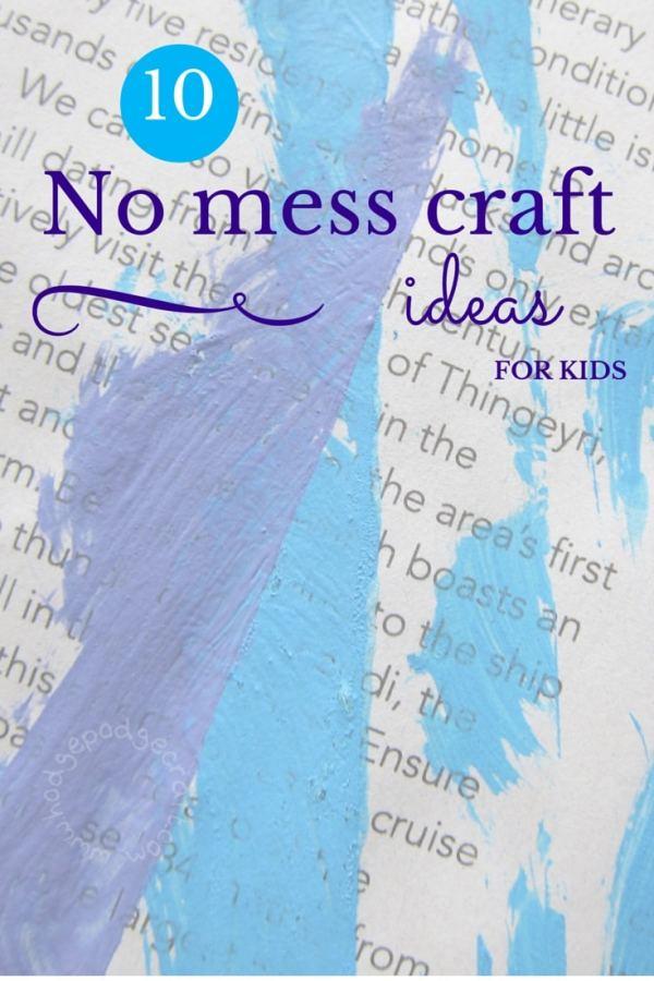 WM 10 no mess craft ideas for kids