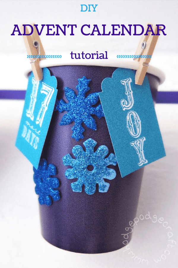 DIY paper cup advent calendar PIN