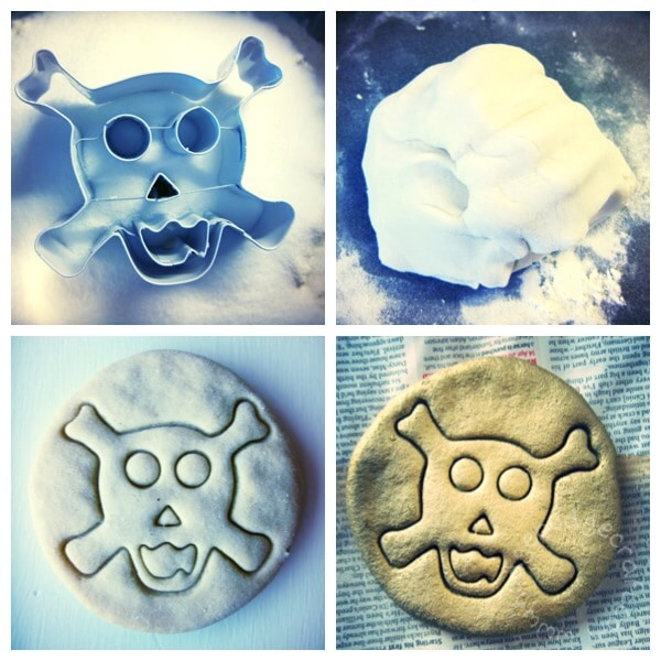 how to make salt dough doubloons for a pirate party