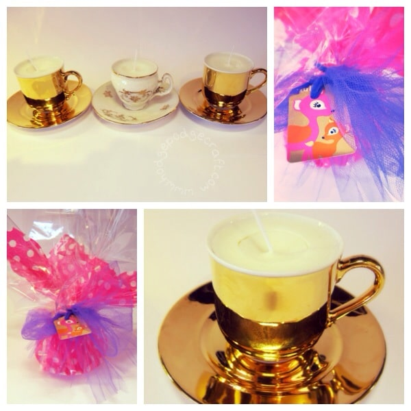 Vintage teacup scented candle gift