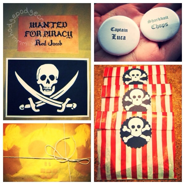 Pirate party goodie bags