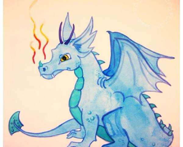 Dragon painting for Chinese zodiac