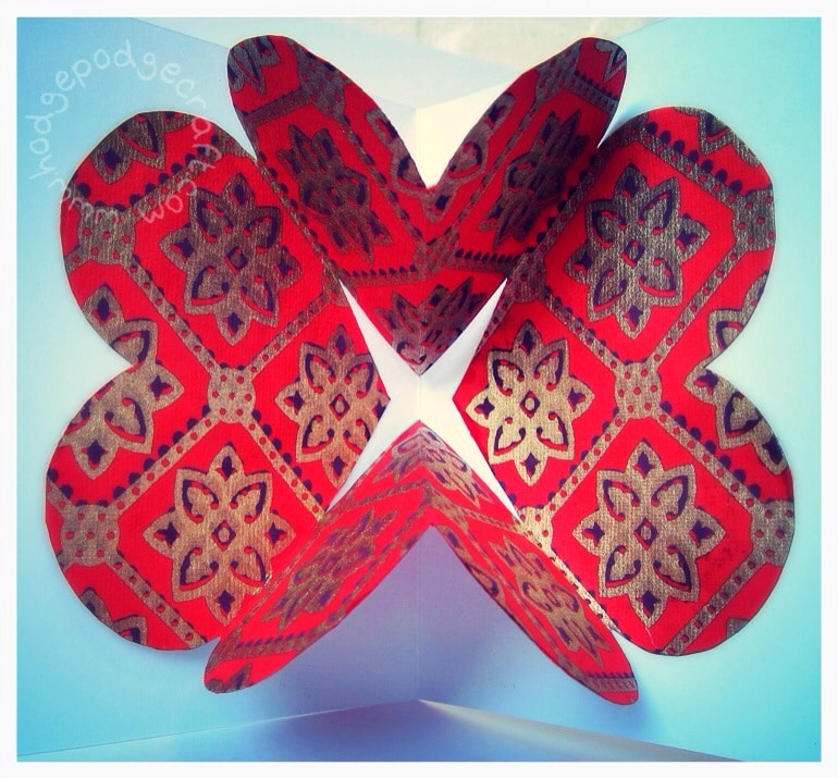 How to make a pop-up heart Valentine card