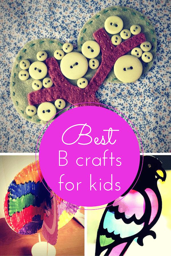 B craft ideas for kids