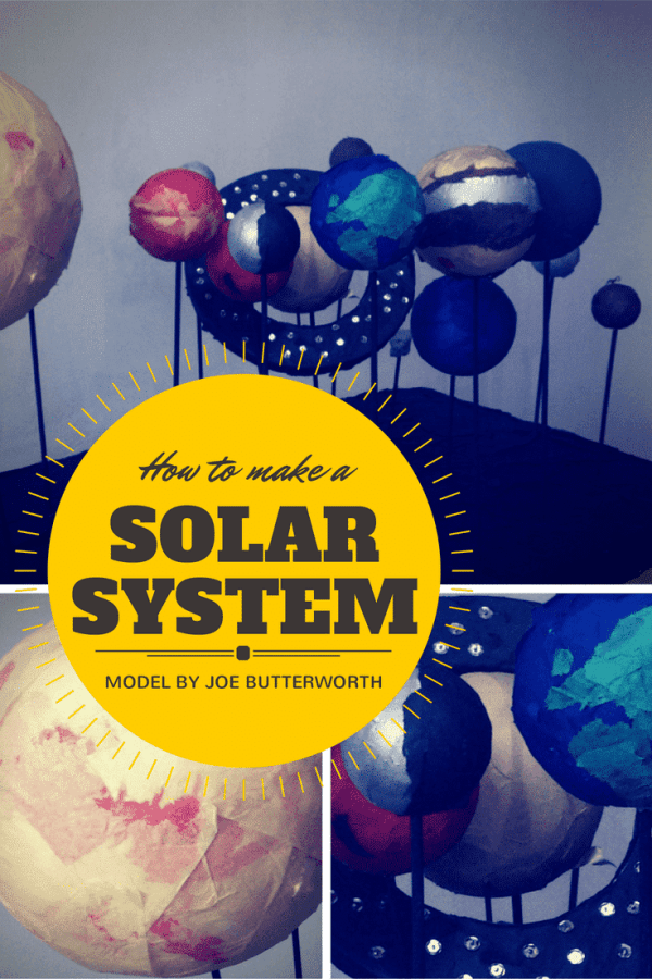 How to make a model of the solar system
