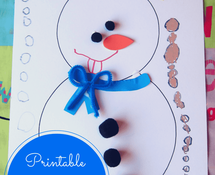 ree printable snowman craft for kids