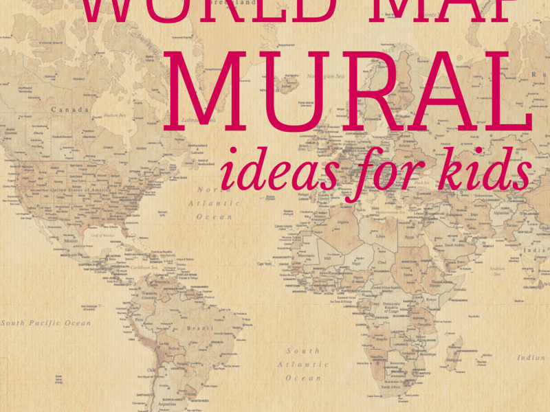 world map mural ideas for kids