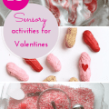 Sensory activities for Valentines Day