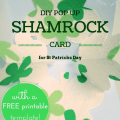 pop-up shamrock DIY card for St Patricks day