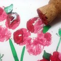 Cork printed poppies