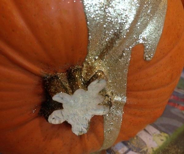 Glitter pumpkin close up