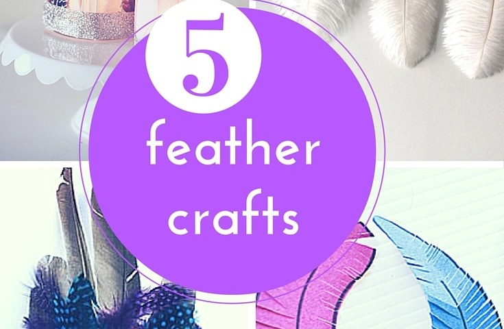 5 feather crafts round up