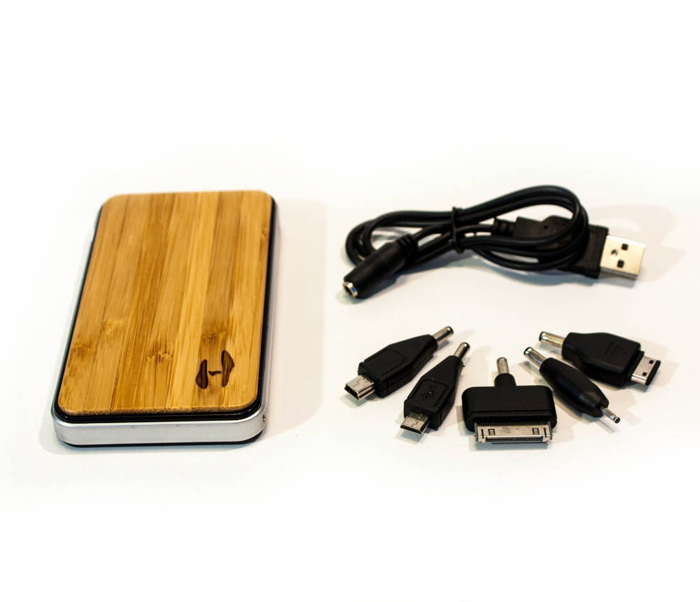 Ipad Lader Wood Design Power Bank 2700 Solar Charger For Iphone Ipad Or Samsung