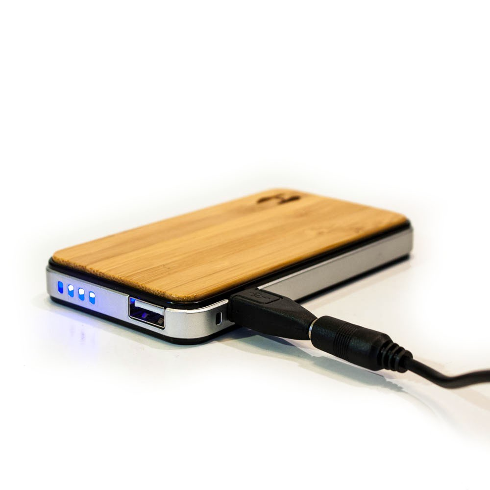 Ipad Lader Wood Design Power Bank 2700 Solar Charger For Iphone Ipad Or