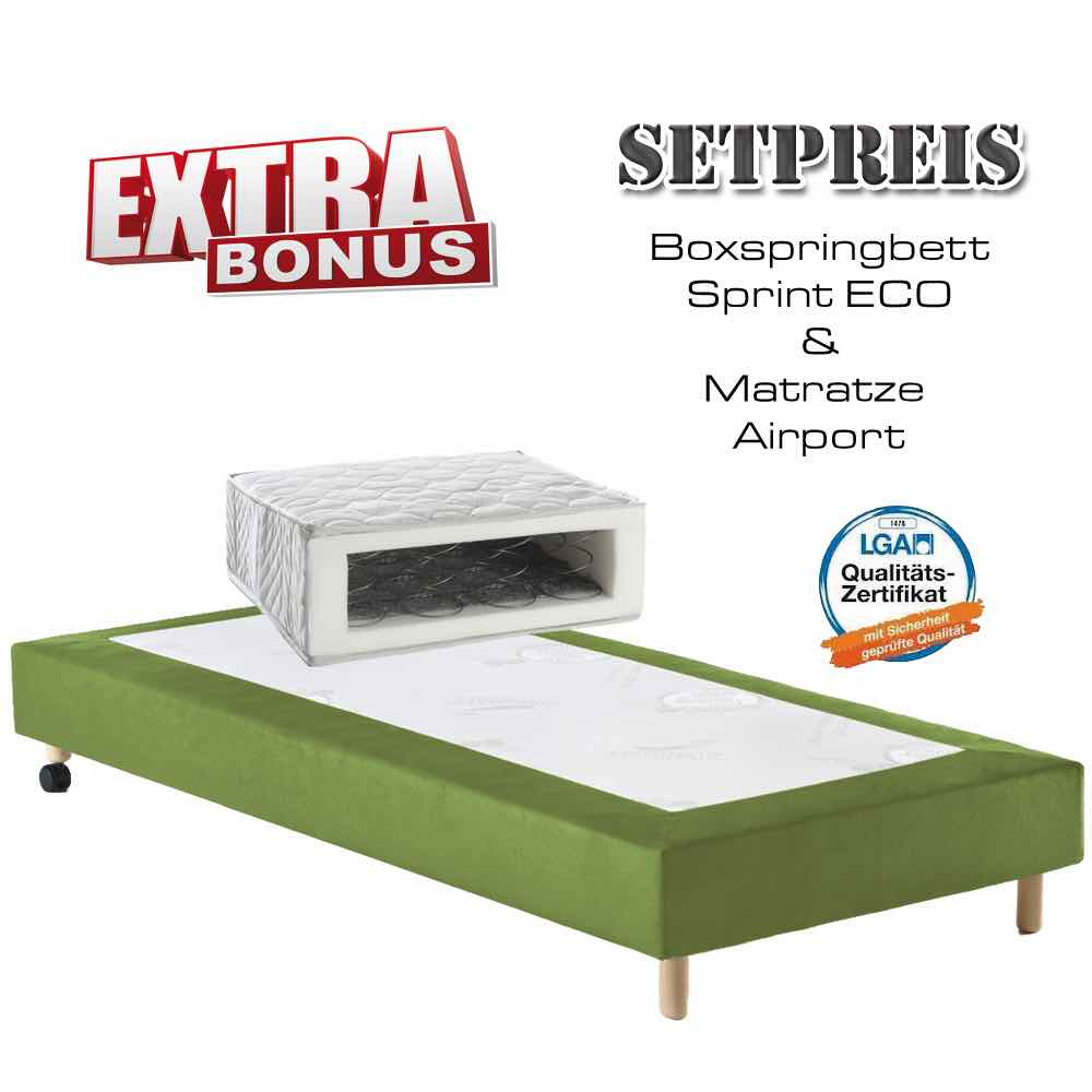 Boxspringbett Sprint Eco Matratze Airport Boxspringbetten Betten Hogashop24 De