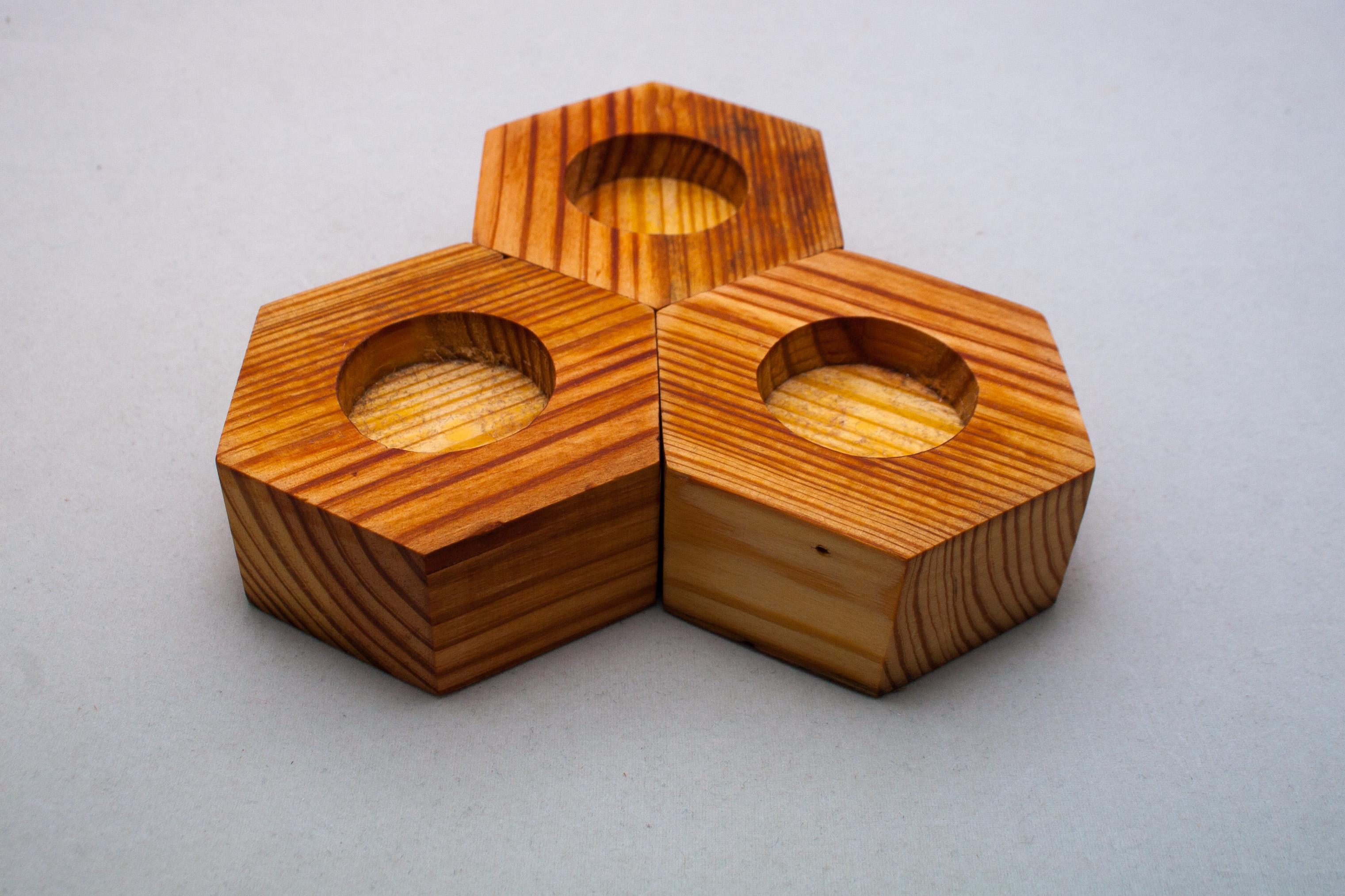 Hex Tea Light Holders  Hog Island Woodcraft