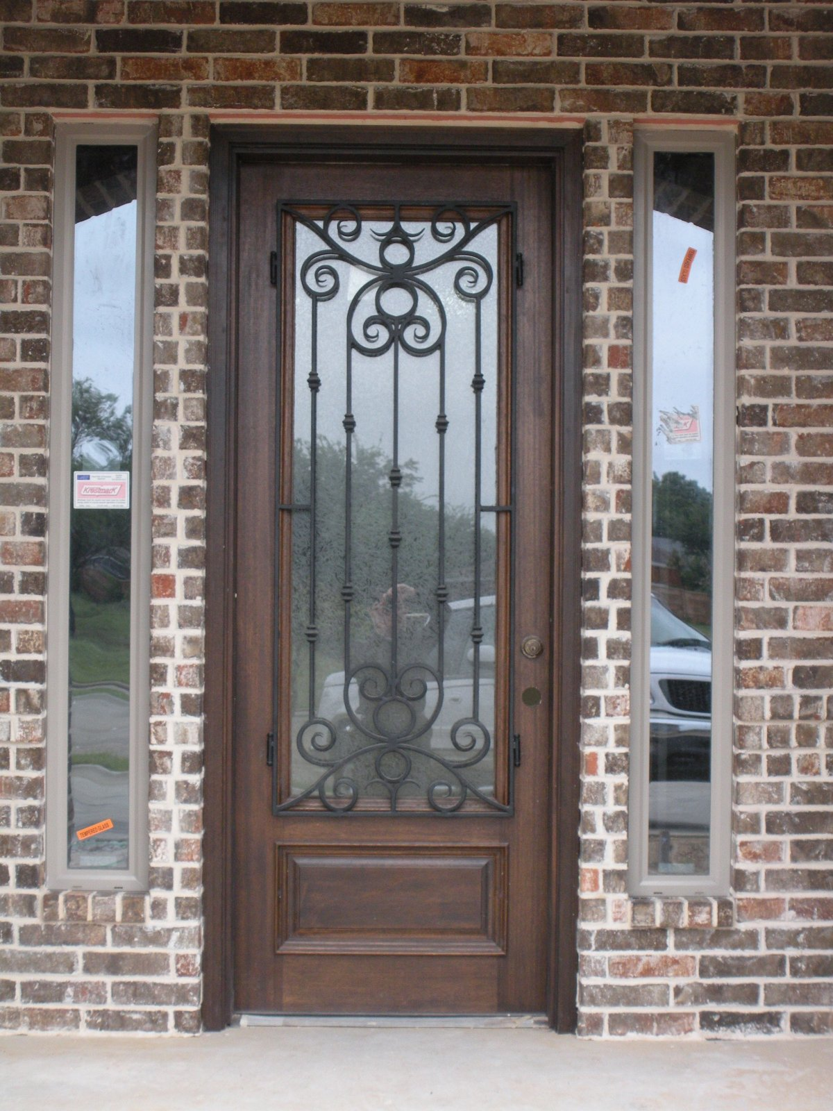 Glass Front Door Wood Glass Entry Doors Built With Polymer Design Glass Entry