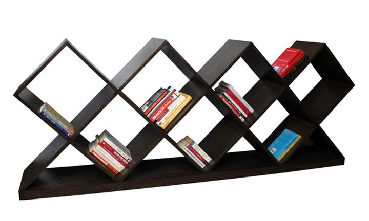 Criss Cross Floor Bookshelf Hoid