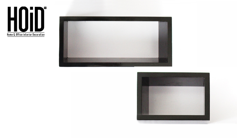 Set Of 2 Rectangular Wall Shelves Hoid