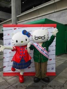 ハローキティ&ジョージが横浜スタジアムにてPR