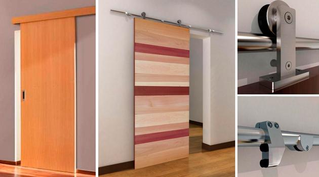 Puertas de corredera hol chile for Puertas de madera para separar ambientes