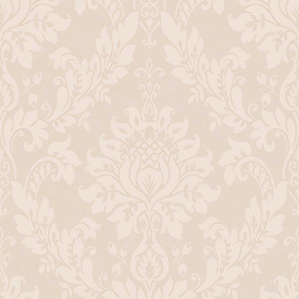 Wallpaper Black And White Damask Clara Mink Holden Decor