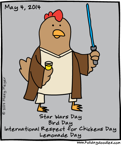 Star Wars Day May 4: Holiday Doodles » May 4, 2014: Star Wars Day; Bird Day