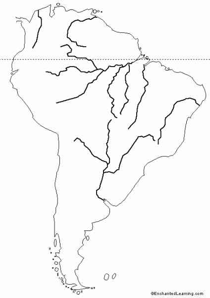 Blank Map Of South America - HolidayMapQ ®