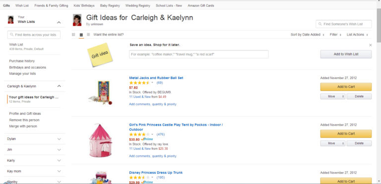 How To Make A Wish List / Gift Registry Online For Birthdays