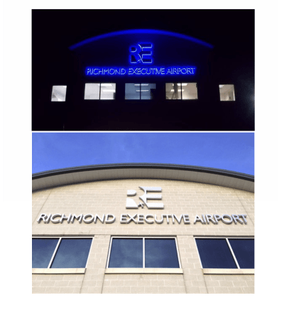 www.holidaysigns.com-Richmond-Executive-Airport-brand-awareness