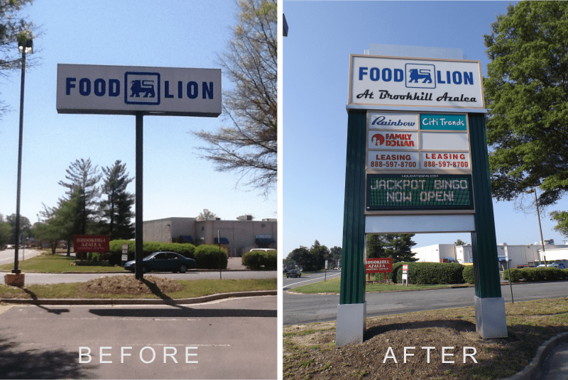 www.holidaysigns.com-chester-richmond-lynchburg-virginia-shopping-center-signage-facade-renovations
