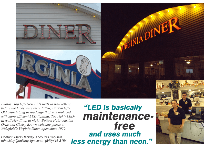 October 2014- General Signage- LED Retrofit- NEON-TO-LED-virginia diner last pic