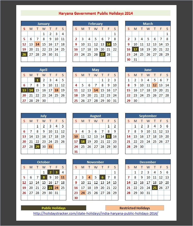2014 Calendar With Holiday List India Holiday 2014 Imdb Haryana India Public Holidays 2014 – Holidays Tracker