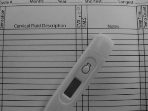 Basal thermometer for fertility charting